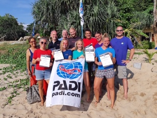 Congratulations to all new PADI dive instructors on Koh Lanta